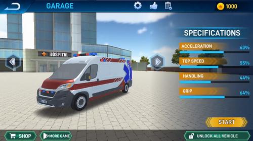 救护车房顶上跳下